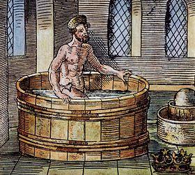 Archimedes im Bad