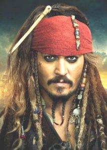 Pirat Johnny Depp in Fluch der Karibik