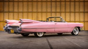 fifties pink car