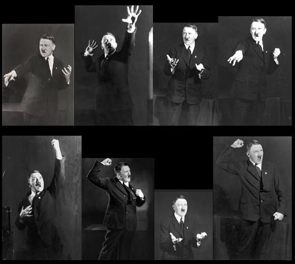 Hitler lässt Posen für Reden fotografieren