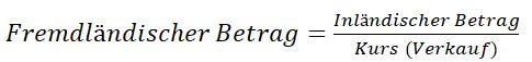 währung umrechnung formel 2