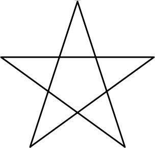 Stern zeichnen 5 zacken