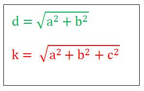 raumdiagonale quader formel