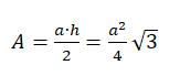 formel fläche gleichseitiges dreieck