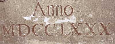 römische Zahlen Inschrift