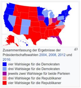 rote und blaue Bundesstaaten