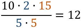 zusammengesetzter dreisatz